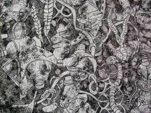 Detail of plastic detritus